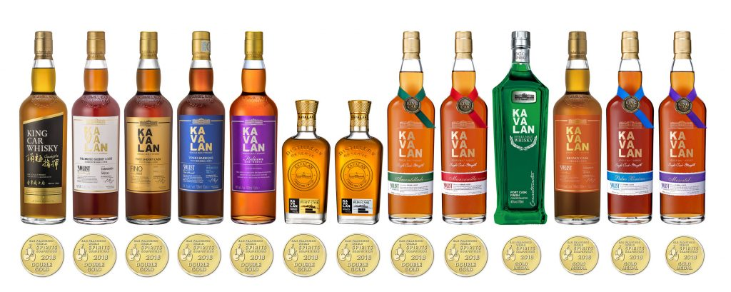 kavalan single malt whisky award winners san francisco world spirits competition 2018